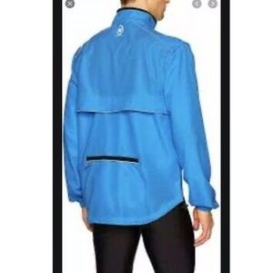 NWT Canari Mens Blue Evolution Cycling Jacket - L